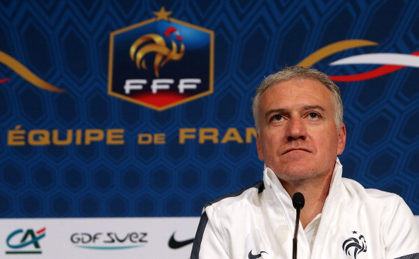 PARIS, FRANCE - MARCH 25: Head coach Didier Deschamps of France answers questions from the media during a press conference prior to the FIFA World Cup 2014 qualifier between France and Spain at the Stade de France on March 25, 2013 in Saint-Denis near Paris, France. (Photo by John Berry/Getty Images)