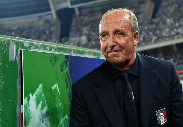 Italy's coach Giampiero Ventura looks on as he arrives prior to the friendly football match between Italy and France on September 1, 2016 at the San Nicola stadium in Bari. / AFP / ALBERTO PIZZOLI (Photo credit should read ALBERTO PIZZOLI/AFP/Getty Images)